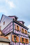 Stock Photo of half timbered house in alsace