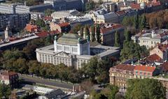 Stock Photo of Croatian State Archives, Zagreb, Croatia.