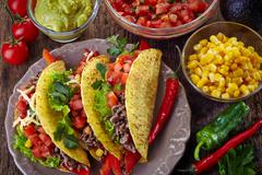 mexican food tacos - stock photo