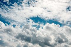 nice cloud in blue sky background - stock photo