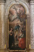 Altar of st. Roch, Church of Saint Euphemia, Rovinj, Croatia - stock photo