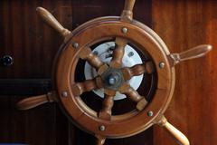 Ship helm Stock Photos