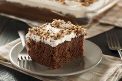 homemade toffee and chocolate cake - stock photo