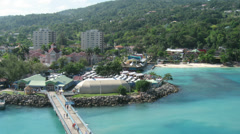 Ocho Rios Jamaica Time Lapse 1 Stock Footage