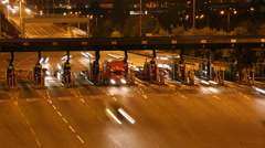 Freeway Toll Booth Time Lapse Close Up UHD / 4K - stock footage