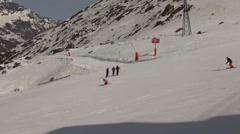Skier at Ski Paradise Matterhorn Stock Footage
