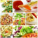 Stock Photo of salad collage