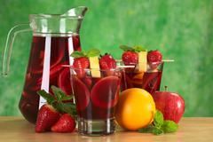 refreshing sangria - stock photo