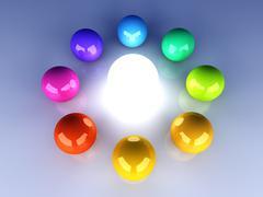 Enlightened color wheel Stock Illustration