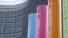 European Commission building in Brussels Stock Footage