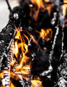 Abstract background of burning coals Stock Photos