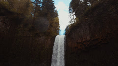 Waterfall Pan Down - stock footage