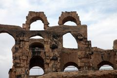 The amphitheater in El-Jem, Tunisia Stock Photos