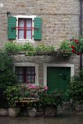 House in small town Groznjan in Istra, Croatia Stock Photos