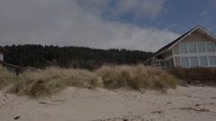 Beach House Pan Stock Footage