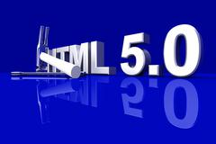 html 5.0 tools. - stock illustration