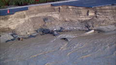 Storm Flooding Aftermath - stock footage