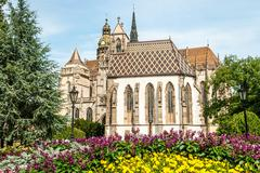 Cathedral of st. elizabeth with garden Stock Photos