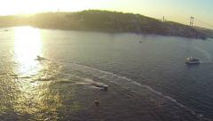 Bosporus Sea from above in Istanbul, Turkey Stock Footage