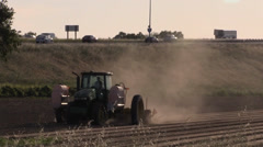 California Agriculture, Vegetable crops, highway Stock Footage