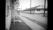 Houses and street in military base Stock Footage