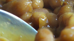 Eating Beans, Frijoles, Seed Foods Stock Footage