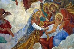 Birth of Saint Catherine of Alexandria - stock photo