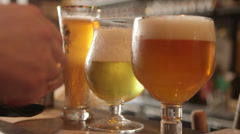 Buying Belgian beer Stock Footage