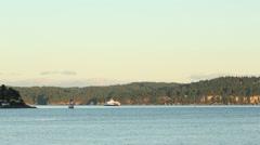 Nanaimo Harbor Patrol Boat Stock Footage