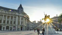 4K timelapse: Bucharest city center Stock Footage