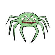 Stock Illustration of cartoon halloween spider