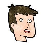 Stock Illustration of cartoon unhappy face