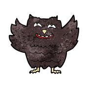 Stock Illustration of cartoon happy owl