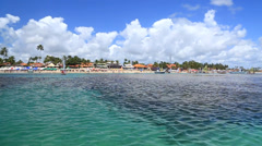 Barrier reef in Porto de Galinhas, Recife, Pernambuco - Brazil - stock footage