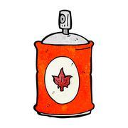 cartoon fragrance spray - stock illustration