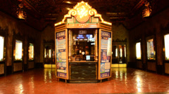 Theater Kiosk in Hollywood Stock Footage