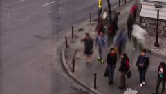 Timelapse: people on street Stock Footage