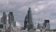 New additions to London skyline Stock Footage