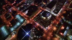 Buildings Night Phoenix - stock footage