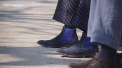 Elegant shoes Stock Footage