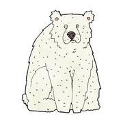 cartoon funny polar bear - stock illustration