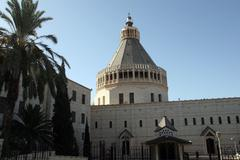 Basilica of the Annunciation, Nazareth Stock Photos