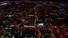 Buildings City Lights Phoenix Stock Footage