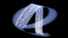 Movie Film footage with digital numbers.abstract multimedia videography. - stock footage