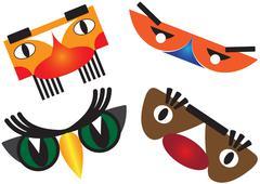 Carnival masks Stock Illustration