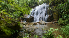 Timelapse of Beautiful Waterfall Slide Left To Right Stock Footage