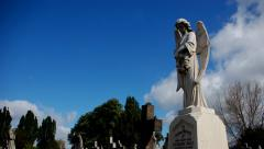 Graveyard. Cemetery. Time-lapse. Angel. London Stock Footage