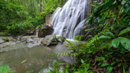 Stock Video Footage of Timelapse of Beautiful Waterfall Camera Backward Slide