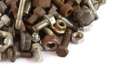 Pile of screw and bolt Stock Photos