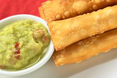 latin-american appetizers called tequenos - stock photo